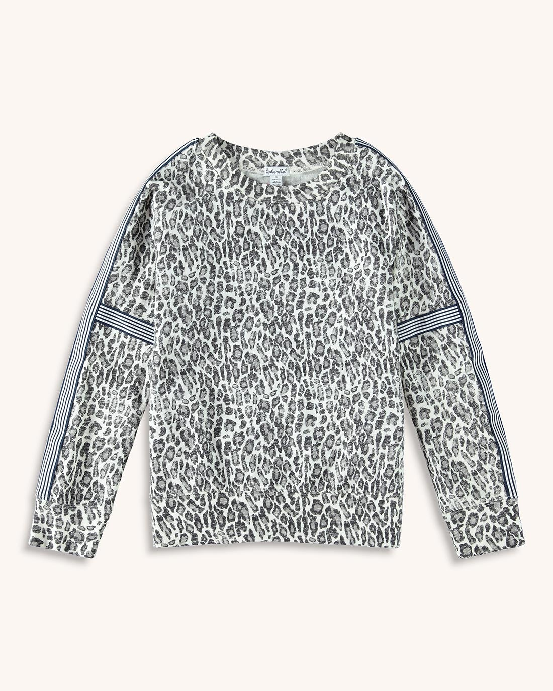 Girl Leopard Print Pullover