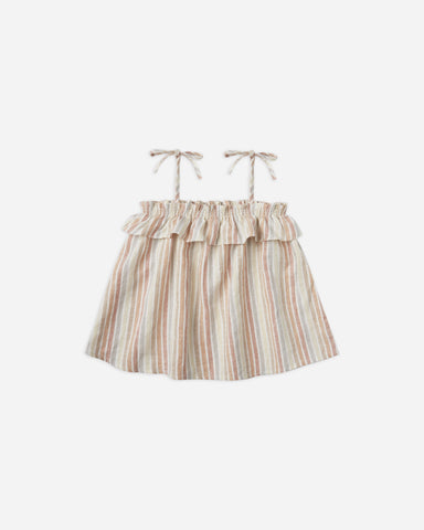 Rylee + Cru - Ruffle Tube Top - Multi Stripe - This Little Piggy