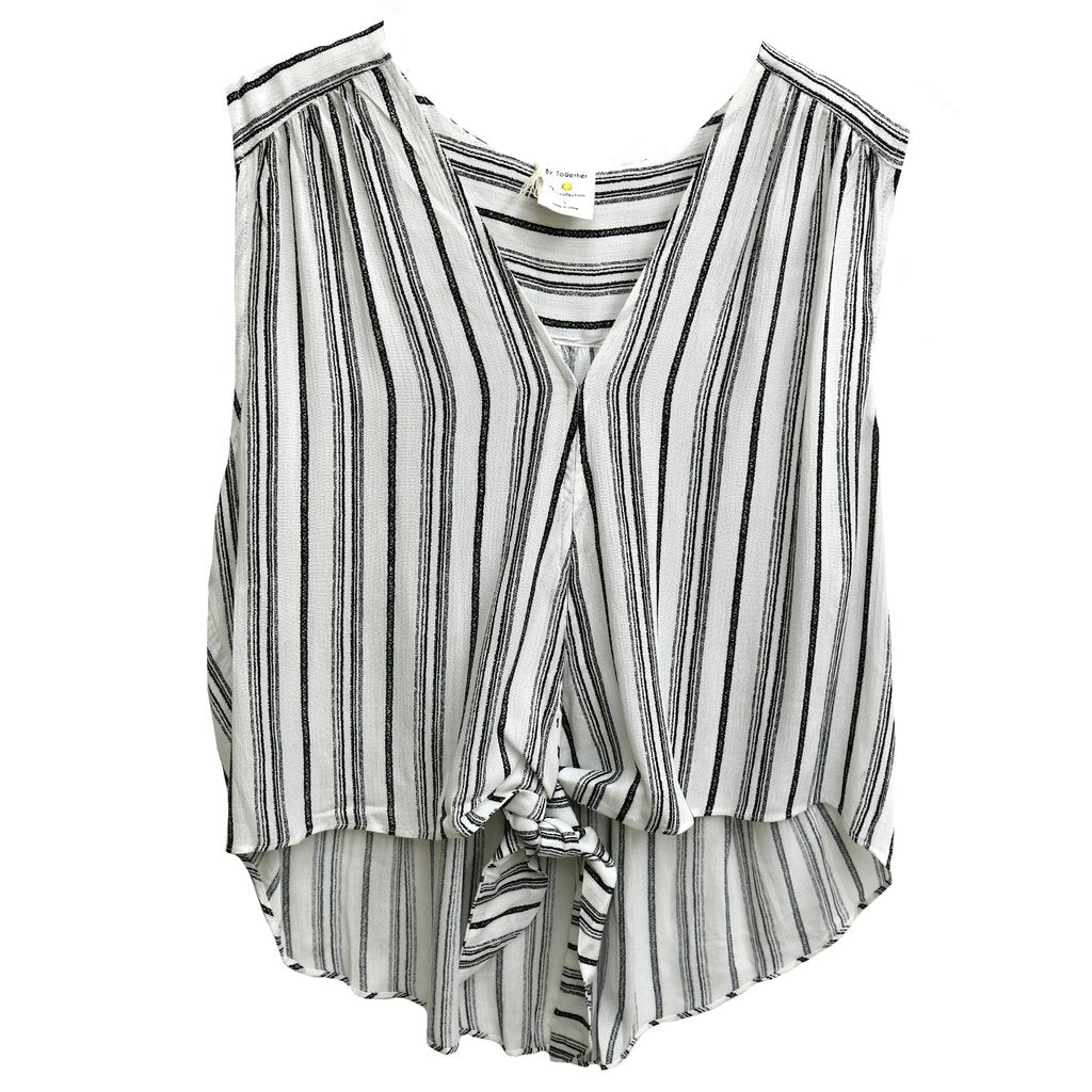 Knotted Sleeveless Blouse