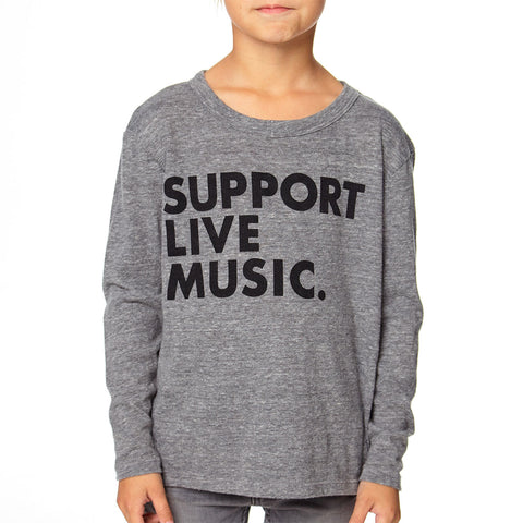 Support Live Music Long Sleeve Tee - This Little Piggy