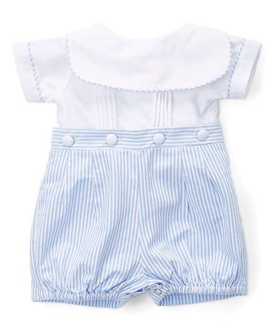 Jacob Blue Stripe Button On Outfit