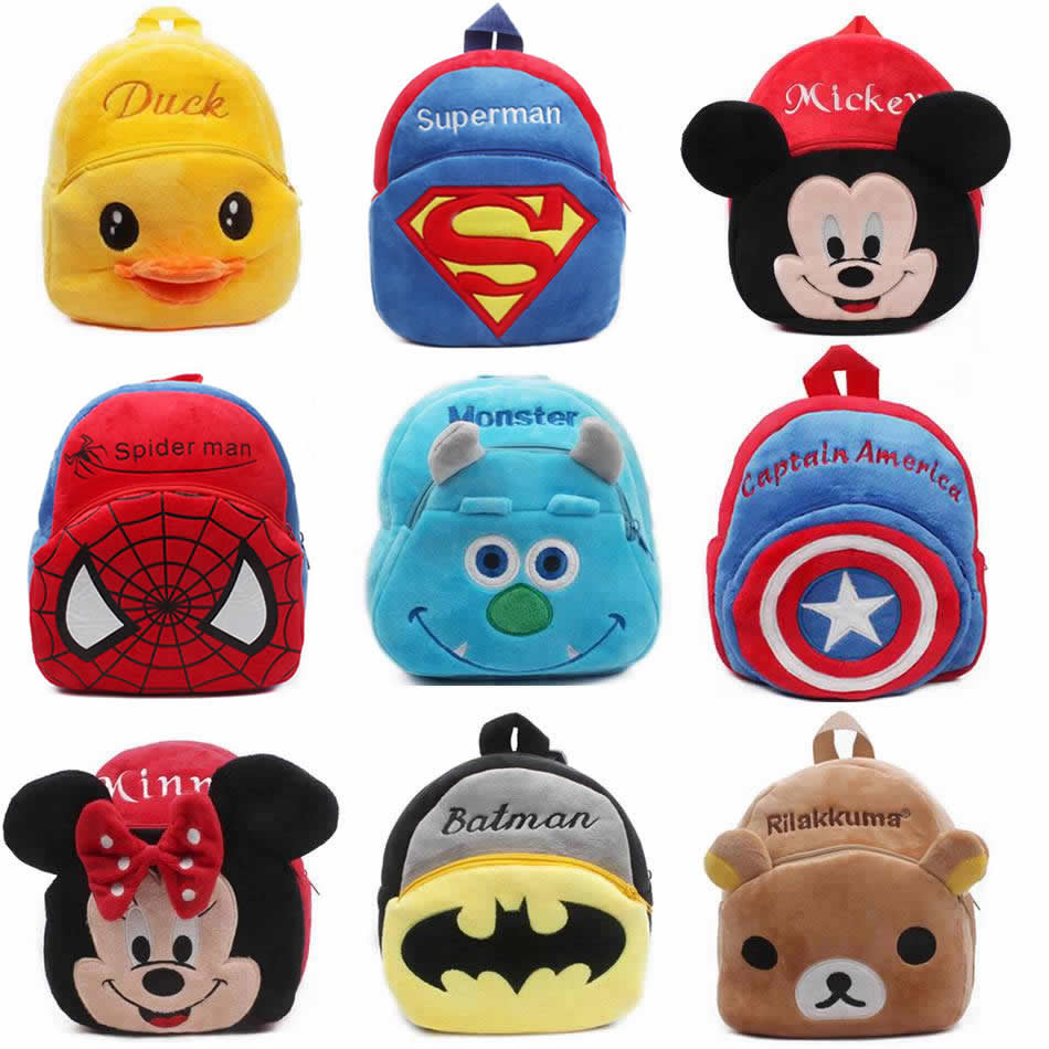 1-3Y Plush Cartoon School Bag