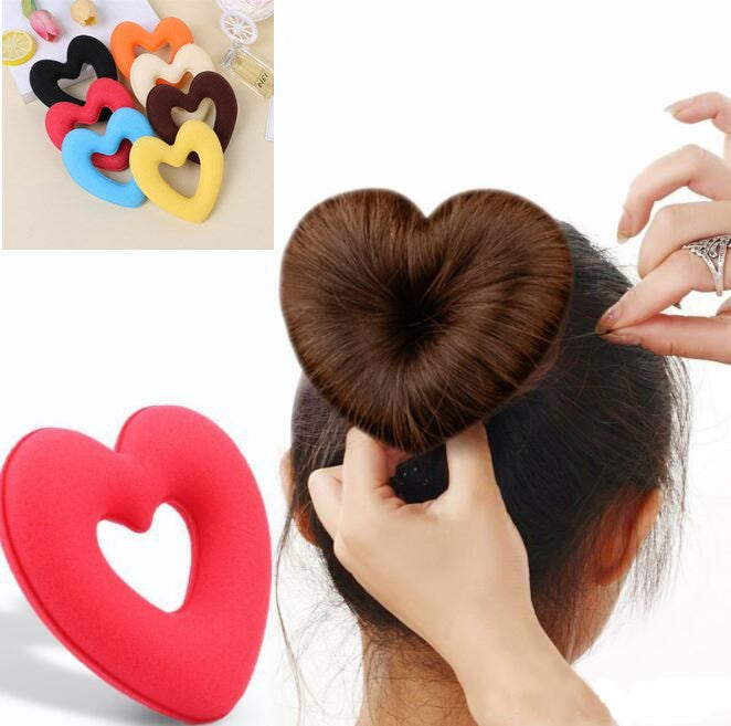 Heart Shape Meatball Hair Bun