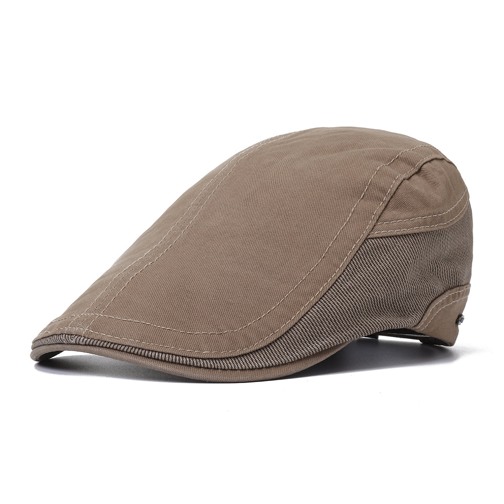 Mens Outdoor Summer Patchwork Breathable Beret Hat