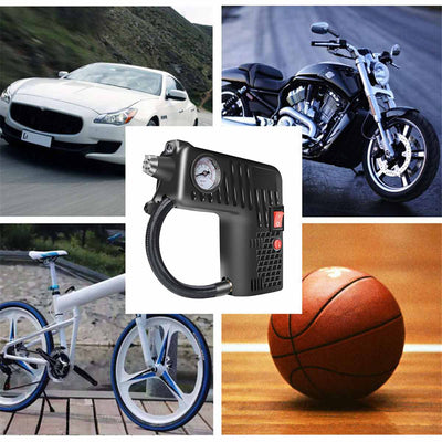 12V Portable Air Inflator Compressor Pump Tire For Car & Motorcycle & Bike