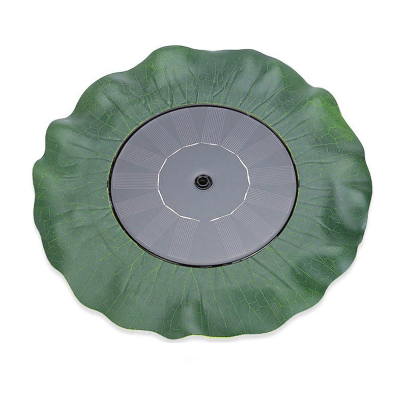 Lotus Leaf Solar Fountain Water Floating Garden Pond Gardening Decoration