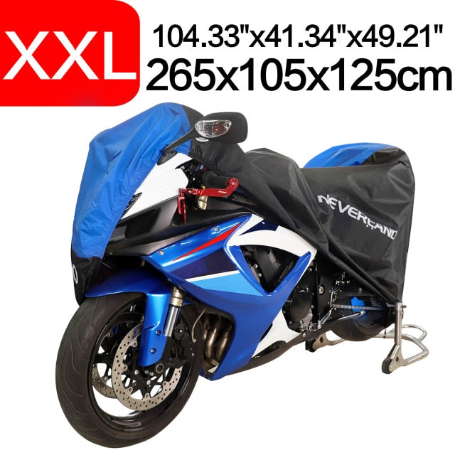 Black Blue Design Waterproof Motorcycle Covers