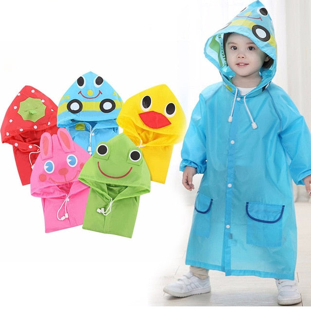 Cartoon Animal Style Waterproof Kids Raincoat