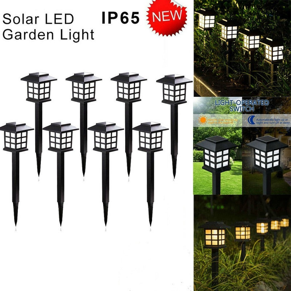 2-20 Pack Led Solar Waterproof Outdoor Pathway Lamps