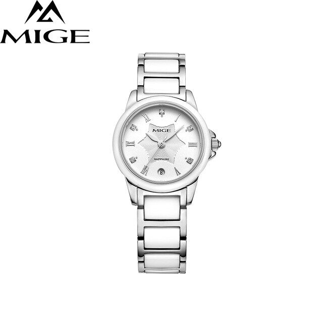 2017 real sale Brand Fashion Women Watches Waterproof Casual white Ceramicsaphire dial Ladies Watch montre Quartz Female Clock