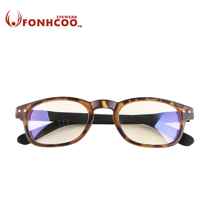 2018 FONHCOO New fashion leopard Vintage retro Anti Blue ray Glasses Radiation-Resistant protect goggles computer gaming glasses