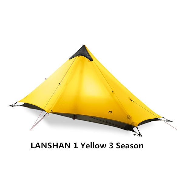 2018 LanShan 2 3F UL GEAR 2 Person Oudoor Ultralight Camping Tent 3 Season Professional 15D Silnylon Rodless Tent
