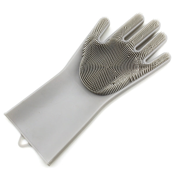 Silicone Cleaning Brush Magic Gloves for Protecting