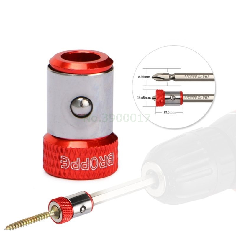 "2019 New Magnetic Ring 1/4"" 6.35mm Metal Strong Magnetizer Screw Electric Phillips Screwdriver Bits"