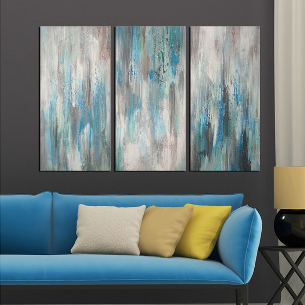 3 Panel Unframed Oil Painting Art