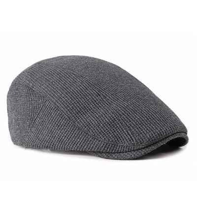 Men Visor Knit Newsboy Beret Cap Cabbie Ivy Flat Hat