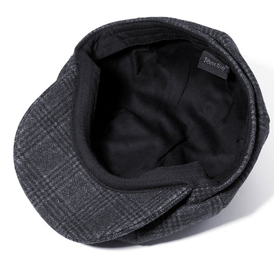 Men Vintage Winter Warm Wool Gird Beret Hat