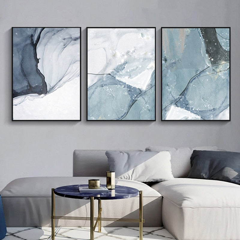 Abstract Marble Canvas Print Paintings