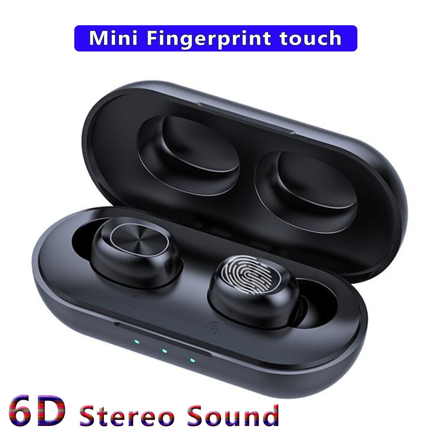 6D Stereo Earbuds Bass Headset With microphone charging box
