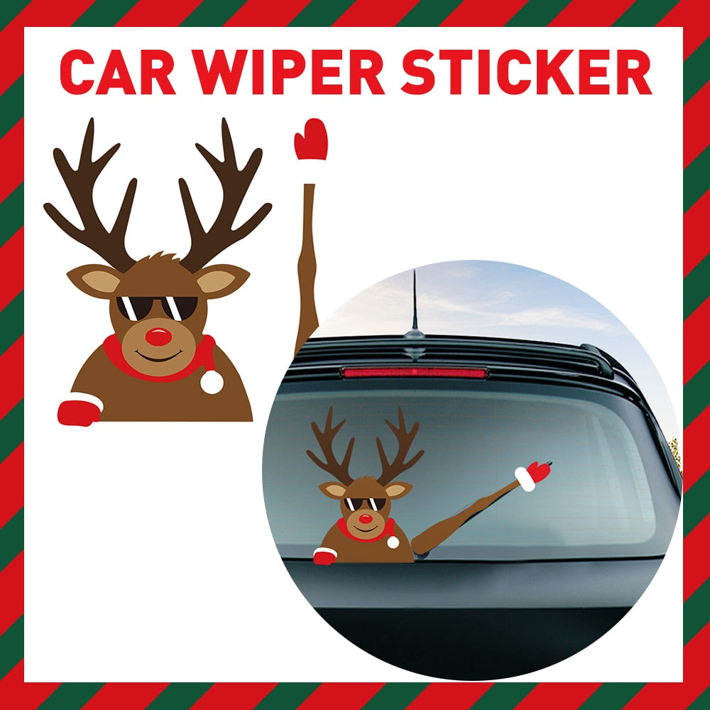 Christmas Stickers Car Rear Window Wiper Sticker For Honda Civic Accord