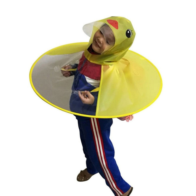 Duck Rain Hat Foldable Children Raincoat