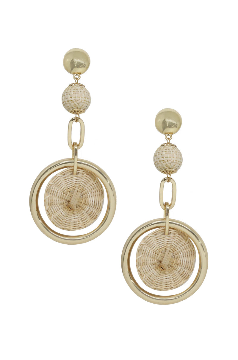 Sandy Day Earrings in Tan and Gold