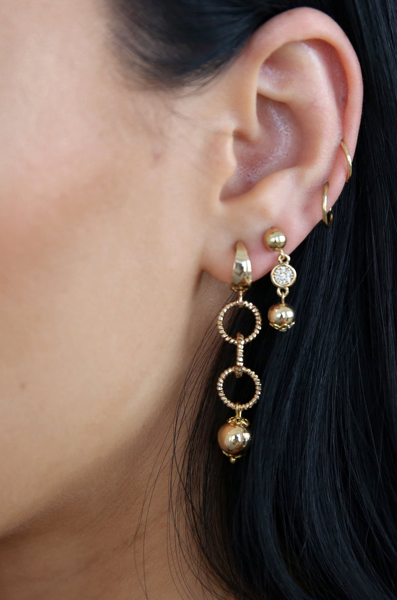 Mini Assorted Gold Dangle Earrings - Set of 5