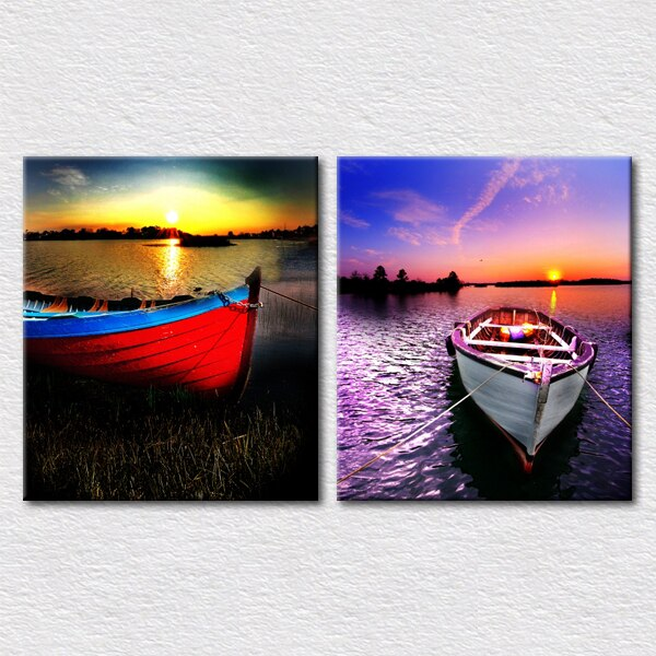 Fine Gift Canvas Print photos 2pcs set travel sencery painting