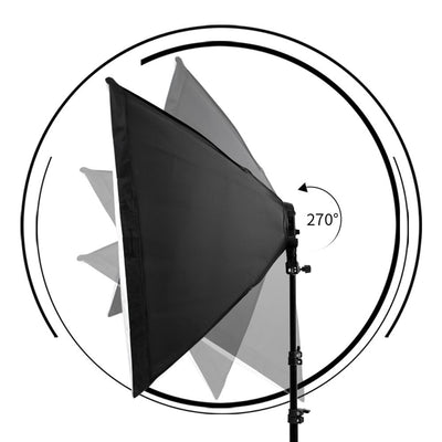Photography Lighting 50x70CM Four Lamp Softbox Kit