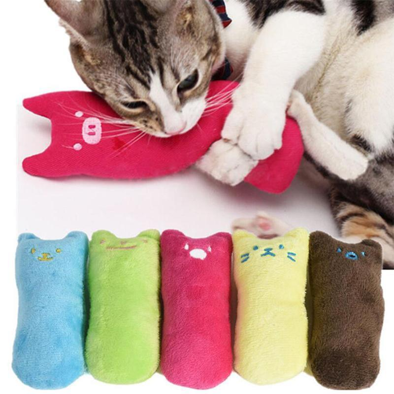 Funny Interactive Crazy Cat Toy Pet Kitten Chewing Toy Teeth Grinding Catnip Toys Claws Thumb Bite Cat mint For Cats Cat Kickers