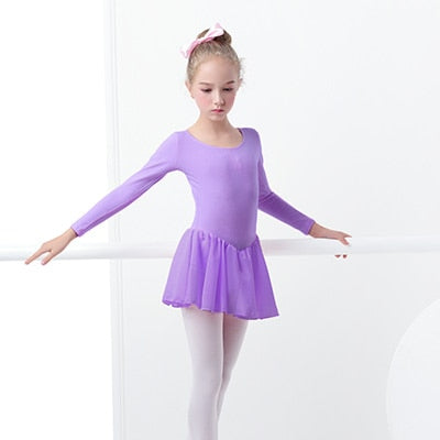 Ballet Leotard Short Sleeve Dress for Ballet and Gymnastics