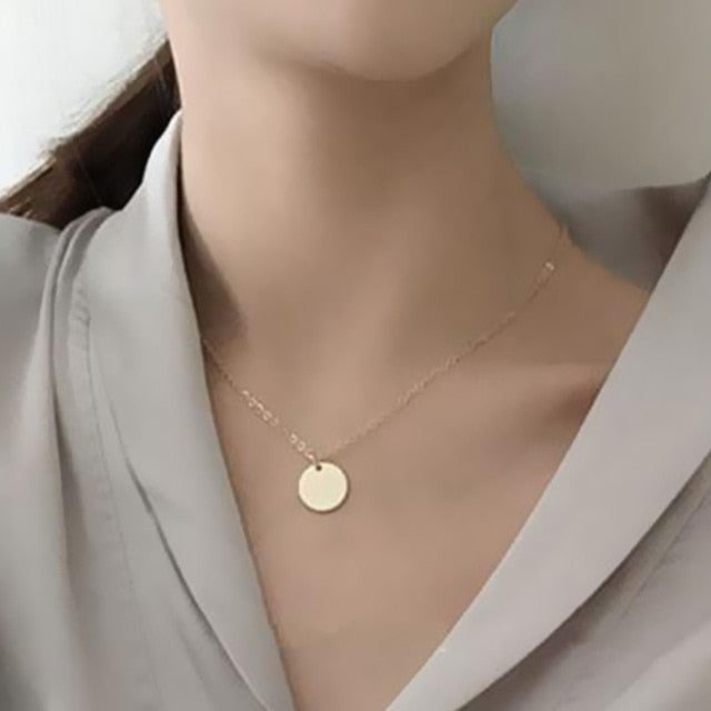Fashion Heart Leaf Moon Pendant Necklace