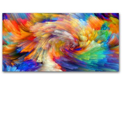 SELFLESSLY rainbow pattern color splash oil painting on Canvas wall painting picture for Living Room posters and prints No frame