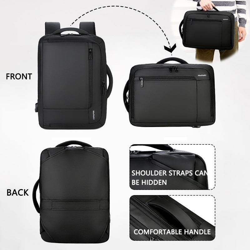 "2019 Mens Anti-theft 14 15.6"" inch Laptop Backpack USB Charging Waterproof Male Business Travel Back Pack  Boys School Bagpacks"
