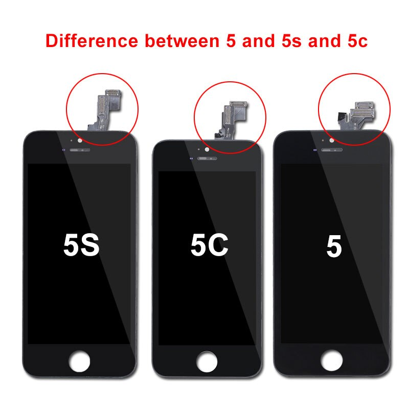 100% AAA Quality Tianma LCD For iPhone 5S 5 5C SE Display with Touch Screen Digitizer for iPhone 5S LCD Screen