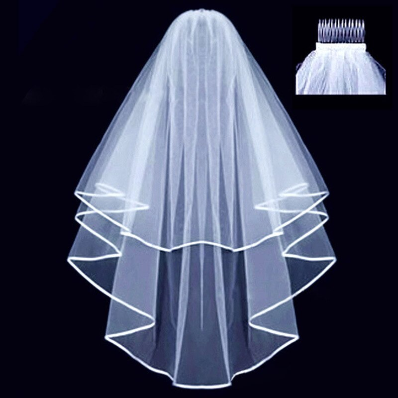 White Bridal Wedding Veil Bride To Be Satin Sash Bachelorette Party girls Hen Party Bridal Shower Kit Decoration Supplies