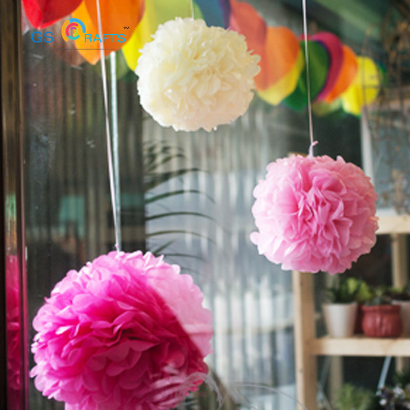 15pcs Tissue Paper Pom Poms mix size Paper Flower Ball for Birthday Party Wedding Baby Shower Bridal Shower Festival Decorations
