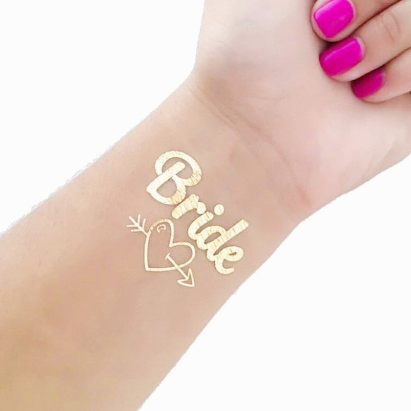 10pc Bachelorette Party team Bride Bridesmaid tribe squad temporary tattoo Hen Night Golden Sticker bride to be wedding supplies