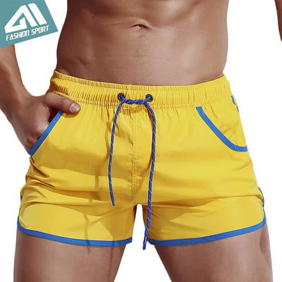 Aimpact Men's Board Shorts Fast Dry 2018 Summer Holiday Beach Surf Pocket Swimming Trunks Sport Running Hybird Shorts AM2049