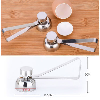 Stainless Steel Egg Topper Cutter Shell Boiled Raw Egg Openers Kitchen Tool  DC112 Egg Opener Kitchen Gadgets