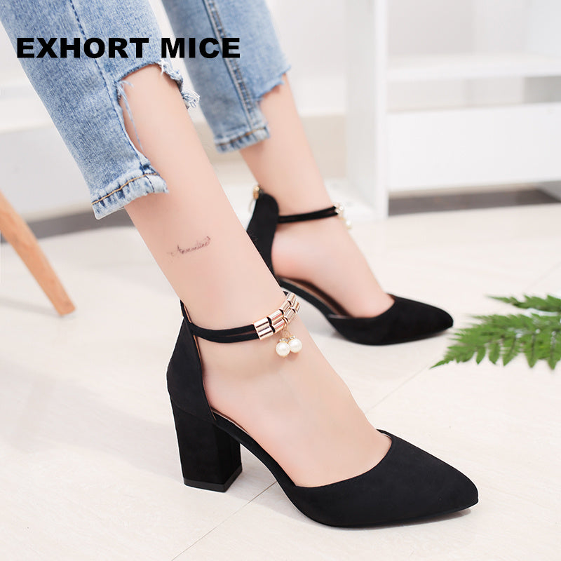 HOT Summer Women Shoes Side with Pointed Toe Pumps  Dress Shoes High Heels Boat Shoes Wedding Shoes tenis feminino sandals #A08