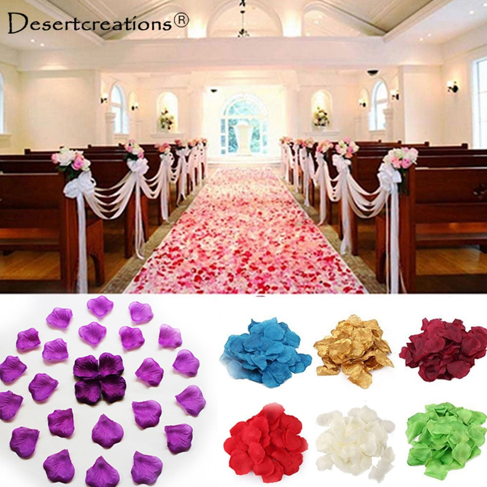 100PCS Simulation Rose Petals Silk Festival Party Table Flower Confetti Wedding Decoration DIY Engagement Wedding Party Supplies