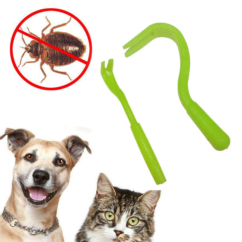 Dog Cat Human Pet Tick Remover Lice Removal Twister Hook Tool Picker Fleas Comb