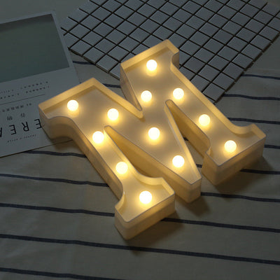 Valentine's Day DIY Letter Symbol Sign Heart Lighting LED Vintage Plastic LED Lights Wedding Party Holiday DIY Decorations
