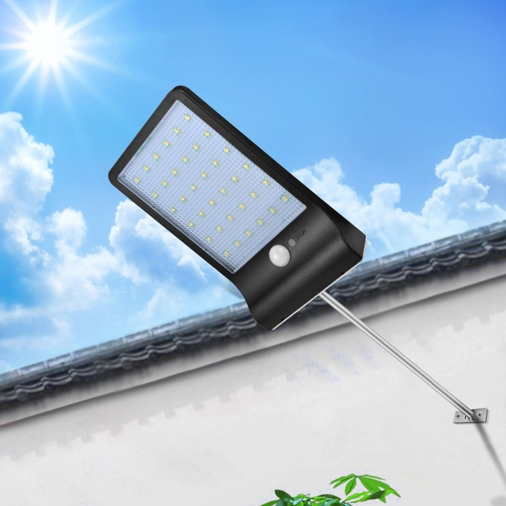 LED Solar Power 36LEDs PIR motion sensor Solar Street light 3 modes Outdoor light  Waterproof Energy Saving Yard Path Home Garde
