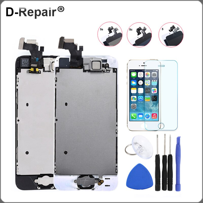 Display For iPhone 5 5S 5C LCD Display Touch Screen Digitizer Home Button Camera Replacement Screen For iPhone 5S LCD