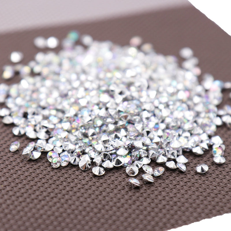 1000PS 4.2mm Acrylic Diamond Confetti Wedding Decoration Crafts Diamond Confetti Table Scatters Clear Crystal Centerpiece Party