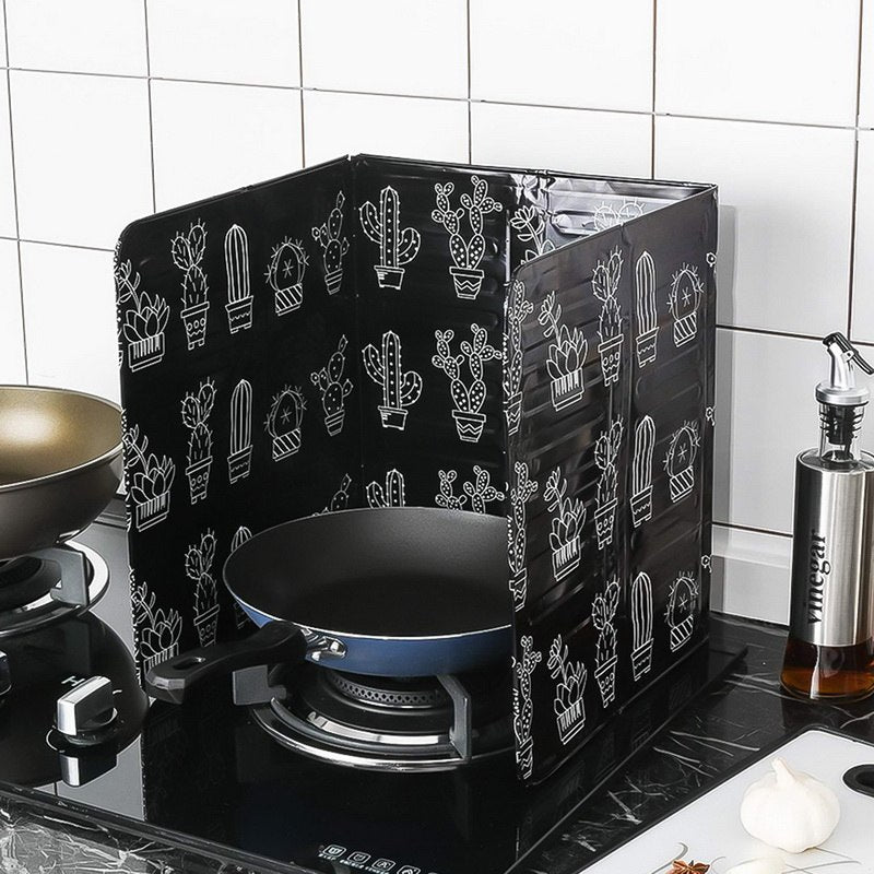 Hoomall Splash Oil Guard Resistence Stove Scald Proof Covers Board Gas Stove Oil Plate Splash Proof Baffle Cooking Frying Pan