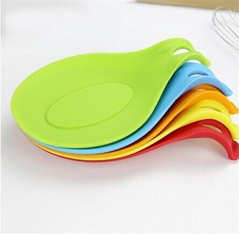 Table Decoration Flexible Silicone Heat Resistant Spoon Fork Mat