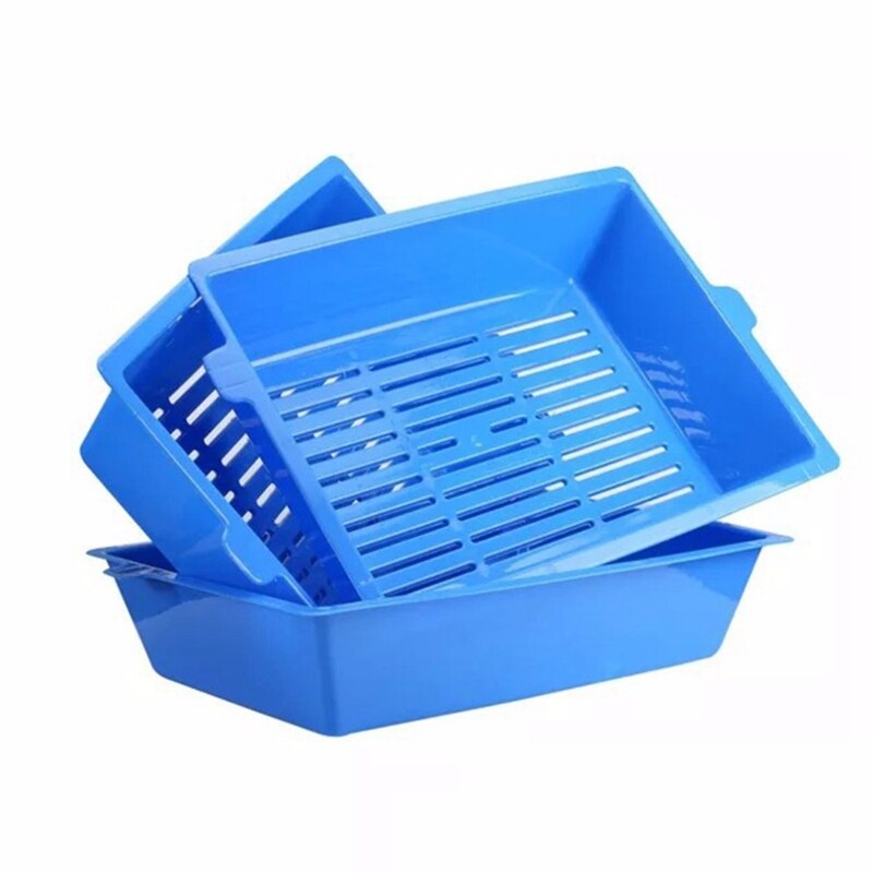 Best 3Pcs Cat Potty Semi-Closed Splash Cat Toilet Litter Box Plastic Potty Set Pet Supplies 3 Interlocking Tray Easy To Use
